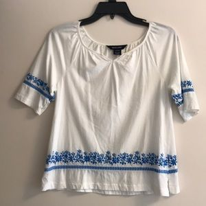 Embroidered Girls Ralph Lauren Top (L, 12-14)